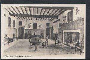 Northamptonshire Postcard - Great Hall, Rockingham Castle   RS6811