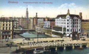 Hamburg Germany, Deutschland Postcard Reesendammbrucke mit Alsterarkaden  Ree...