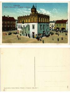 CPA TARNOW Rynek z Ratuszem - Ringplatz und Rathaus. POLAND (371513)