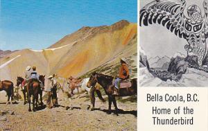 Canada Horseback Riders In Rainbow Mountains Bella Coola Columbia