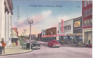 Florida Clearwater Cleveland Street 1960 sk6227