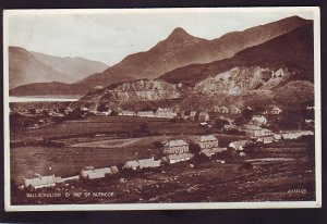P1539 vintage RPPC view ballachulish & pap of glencoe highlands scotland england
