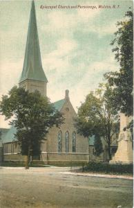 Walden NY~Monument Across From Episcopal Church and Parsonage 1910 Postcard
