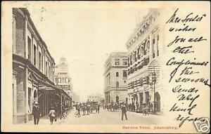 south africa, JOHANNESBURG, Harrison Street 1903 Stamp