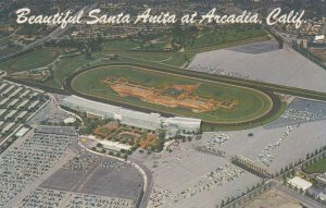 Horse Race Track , Santa Anita , ARCADIA , California , 1950-60s ; Version-3