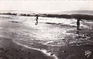 France Soulac-sur-Mer Contre-Jour sur l'Ocean Real Photo