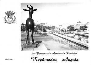 Mocamedes Angola Pormenor de Avenida da Republica Statue Partial view