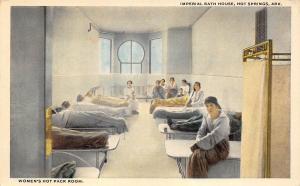 Hot Springs Arkansas 1920s Postcard Imperial Bath House Women's Hot Pack Room