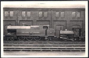LANCASHIRE & YORKSHIRE Railroad Locomotive #1450 RPPC unused