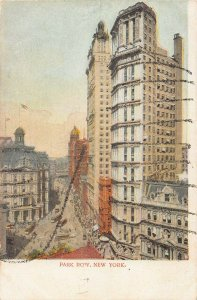 Park Row, Manhattan, New York City, N.Y., Early Postcard, Unused