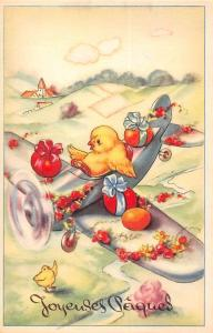 Easter Joyeuses Paques fantasy aircraft airplane eggs humanized chicken baby