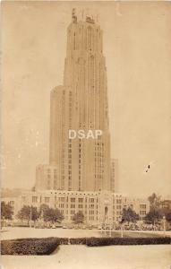 B85/ University of Pittsburgh Pennsylvania Pa RPPC Postcard c30s Cathedral Learn