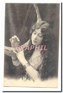 Postcard Old Greca Profiles (joeuse music harp)