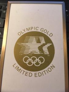 Congress Mint Edition PLaying Cards 1984 Olympic gold, 2 decks with Case