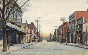 Shelby Ohio~Main Street East~Broucher Millinery~Masury's Paints~Barber Pole~1911