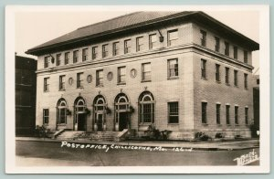 Chillicothe MO~Post Office w/Clay Tile Roof (Now Cnty Library) Moren RPPC 1930s