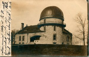 Vtg Postcard 1909 RPPC Dearborn Observatory at Northwestern University Chicago