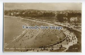 tp9116 - Devon - Torre Abbey Sands from Promenade Gdns, at Torquay - postcard