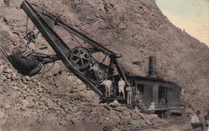 PANAMA, 1900-1910s; Steam-Shovel In A Rock Cut