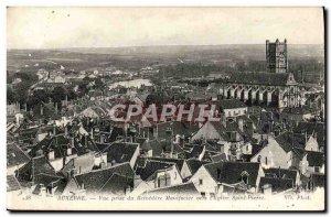 Old Postcard Auxerre Vue Prize Du Belvedere Manifacier toward St. Peter & # 3...