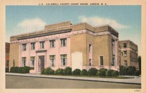 Postcard Caldwell County Court House Lenoir North Carolina