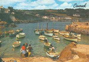 Cornwall Postcard, The Harbour, Coverack, Boats, Sea EM1