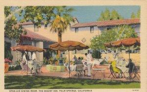 PALM SPRINGS , California , 1930-40s ; Open Air DIning Room - The Desert Inn