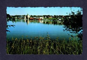 ME City River Bldgs View BELFAST MAINE POSTCARD PC