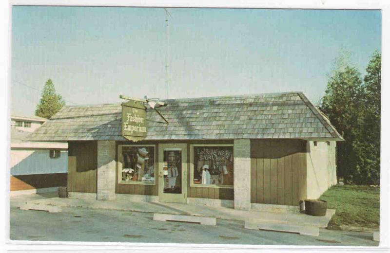 Fashion Emporium Store Ellison Bay Door Co WI postcard