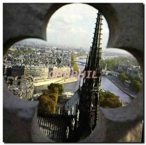 Modern Postcard Paris saw the towers of Notre Dame