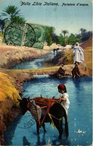 CPA Lehnert & Landrock Nella Libia Italiana Portatore d'acqua TUNISIE (855802)