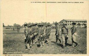 Battle Creek Michigan C-1918 Military US Cantonment Camp Custer Postcard 21-7584