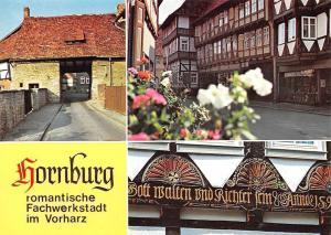 Hornburg Romantische Fachwerkstadt, Dammtor, Marktstrasse, Faecherrosetten