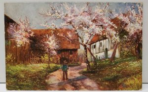 Artist Signed EL Series Country Scene 1908 Ruma Illinois Postcard A8