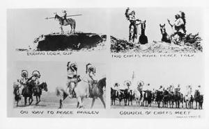 Indian Lookout, On Way to Peace Parley, Two Chiefs Make Peace Talk, Council o...