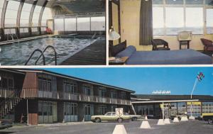 3-Views, Hotel Motel La Caravelle, Swimming Pool, BAIE COMEAU, Quebec, Canada...