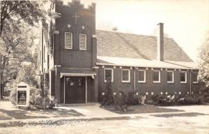 Rockton Illinois~Methodist Church~EV Corvin Pastor~Sign in Front~1949 RPPC