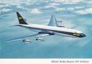 BOAC Rolls-Royce 707 Jetliner airplane , 1960s