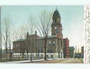 Pre-1907 CITY HALL Lewiston Maine ME Q1822