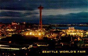 Washington Seattle World's Fair From Queen Anne Hill 1962