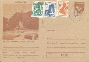 Postcard Romania postal stationery post card Bailesti Heroe monument