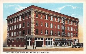 C98/ Macon Georgia Ga Postcard c1915 Unsent Hotel Southland New Hotel