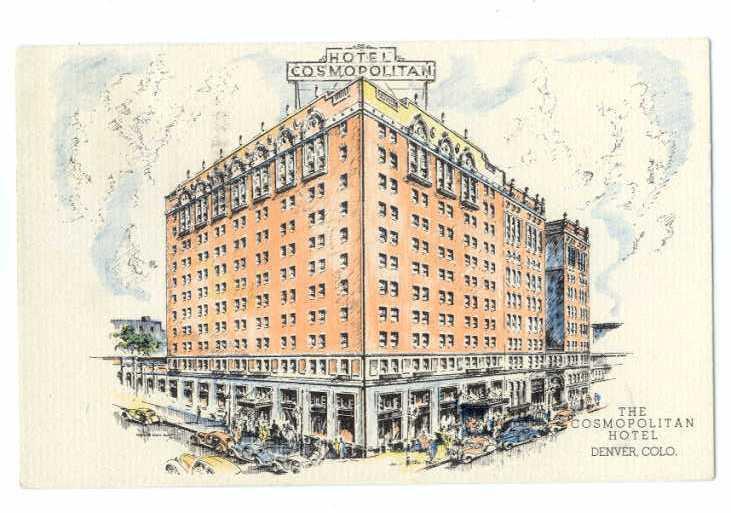 Linen of The Cosmopolitan Hotel Denver Colorado CO 1938