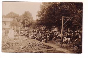 Real Photo. Outdoor Church, Pony and Cart, AZO