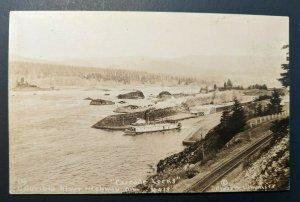 Mint Vintage Cascade Locks Columbia River Highway Oregon #418 RPPC