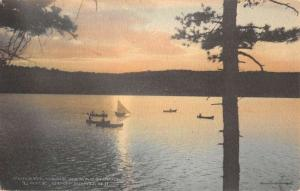 Lake Spofford New Hampshire Sunset Camp Namaschaug Antique Postcard K64415