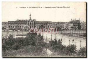 Old Postcard Around The sanatorium Dunkirk Zuydcoote