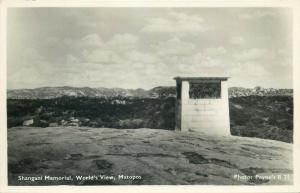 Matabeleland South Zimbabwe Shangani Memorial Matapos photo postcard