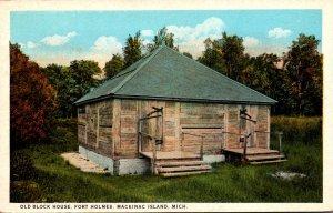 Michigan Mackinac Island Fort Holmes Old Block House Curteich