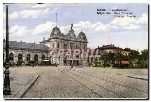 Germany Mainz Old Postcard Hauptbahnhof main station
